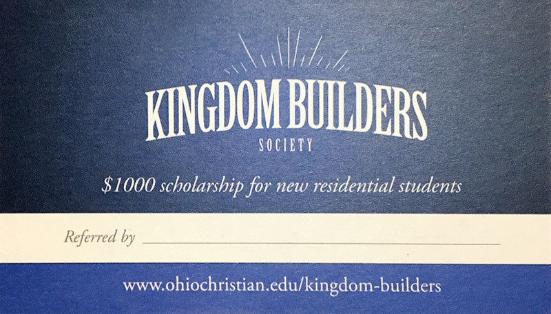 Kingdom Builder Referal Card
