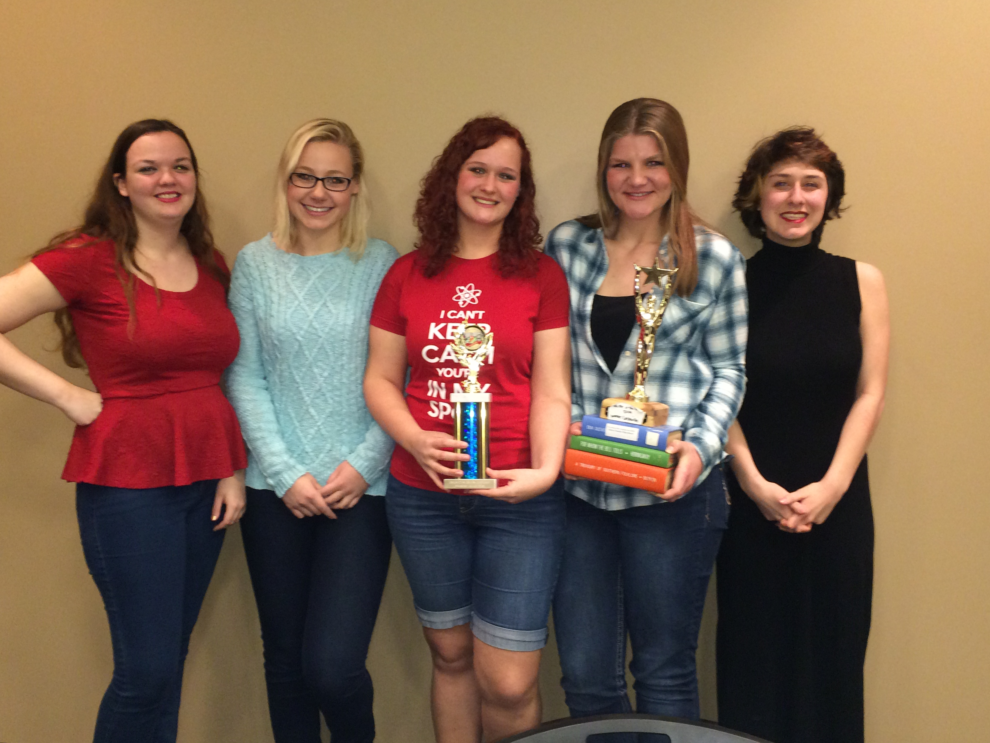Pictured is winning team from Logan Elm H.S.: (left to right) Kaitlynn Esquibel, Emma Baldinger, Tiffany Smolinski, Elizabeth Paul and Brittany Irwin.