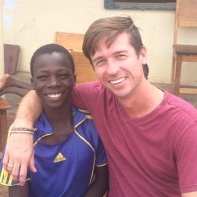 David and friend at African mission site.