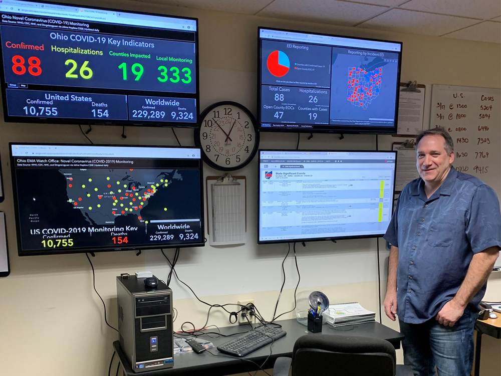 Donald Gossel pictured in the Athens County Emergency Operations Center.