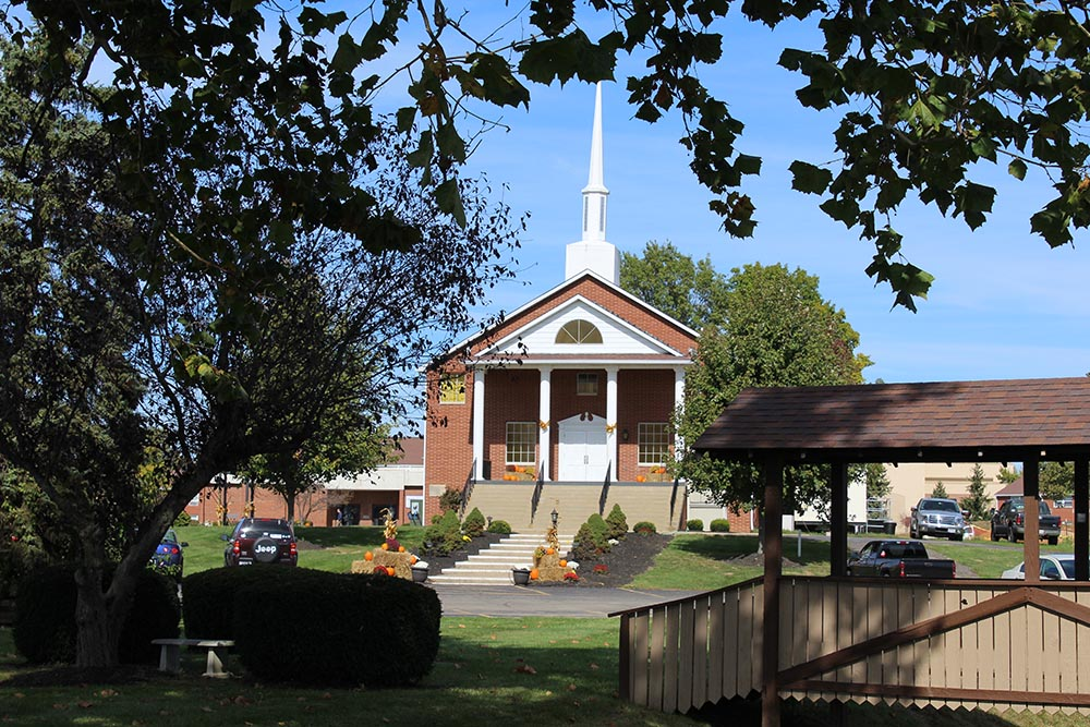 Detty Chapel in fall at Ohio Christian University's main campus in Circleville, Ohio.
