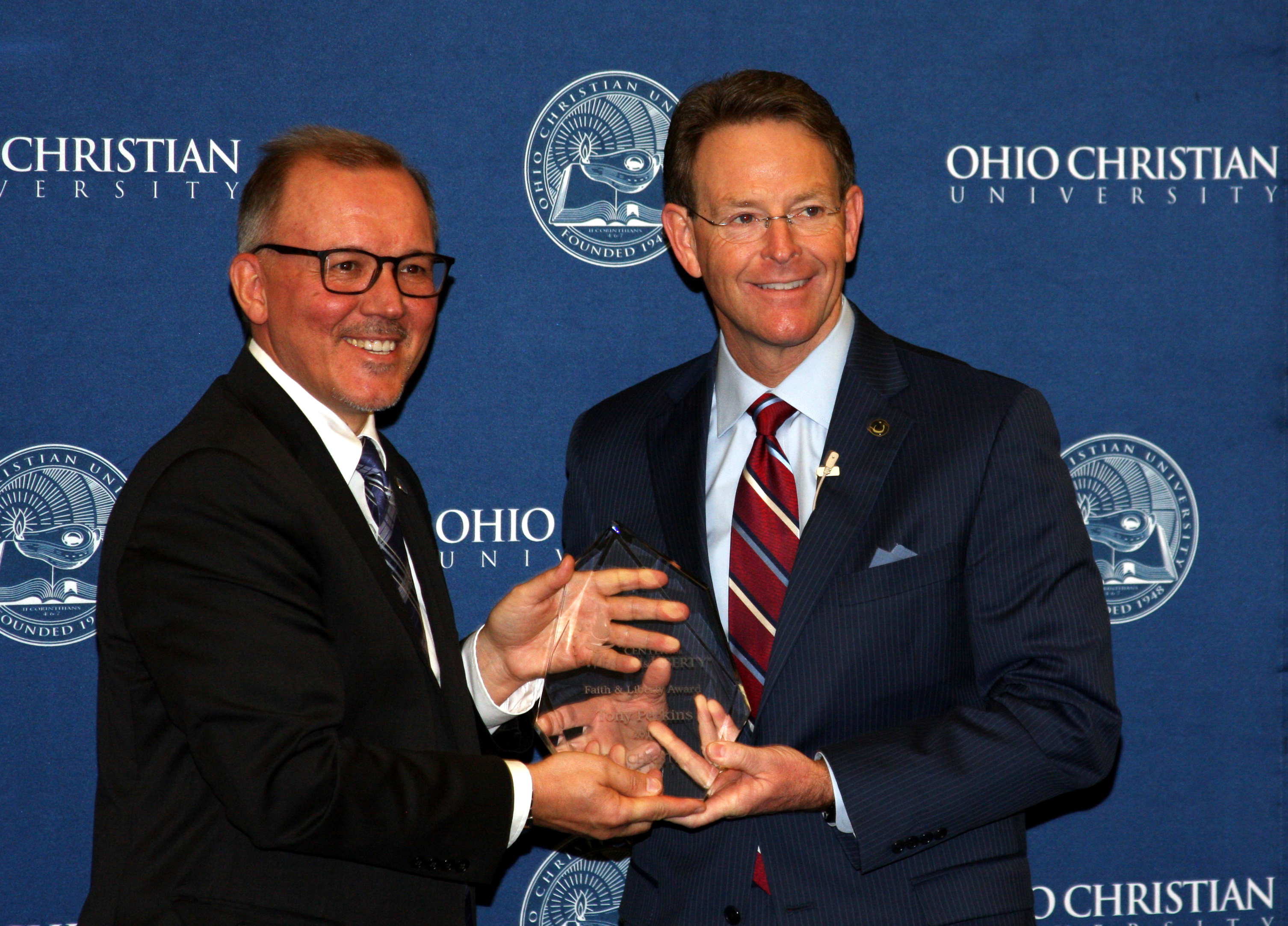 Tony Perkins Receives Faith & Liberty Award