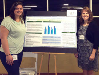 Faculty and Students Present Research on Hybrid Learning image