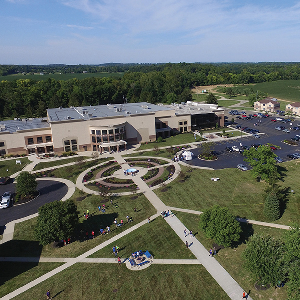 Overhead view of the main Ohio Christian campus