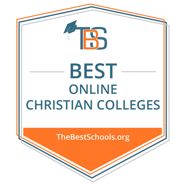 Best Online Christian College Badge