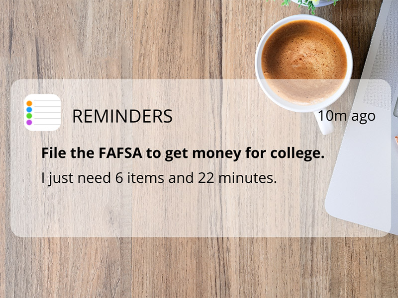 Reminder - file FASFA