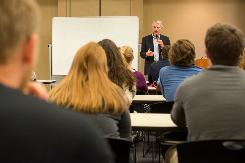 Senator Rob Portman Visits OCU, Speaks with Students image